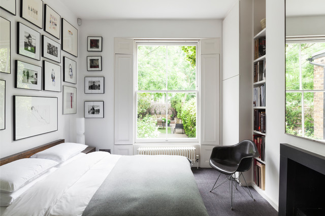 Mid America Shutters Bedroom Contemporary with Bedroom Artwork Bedroom Shutters Black and White Black Picture