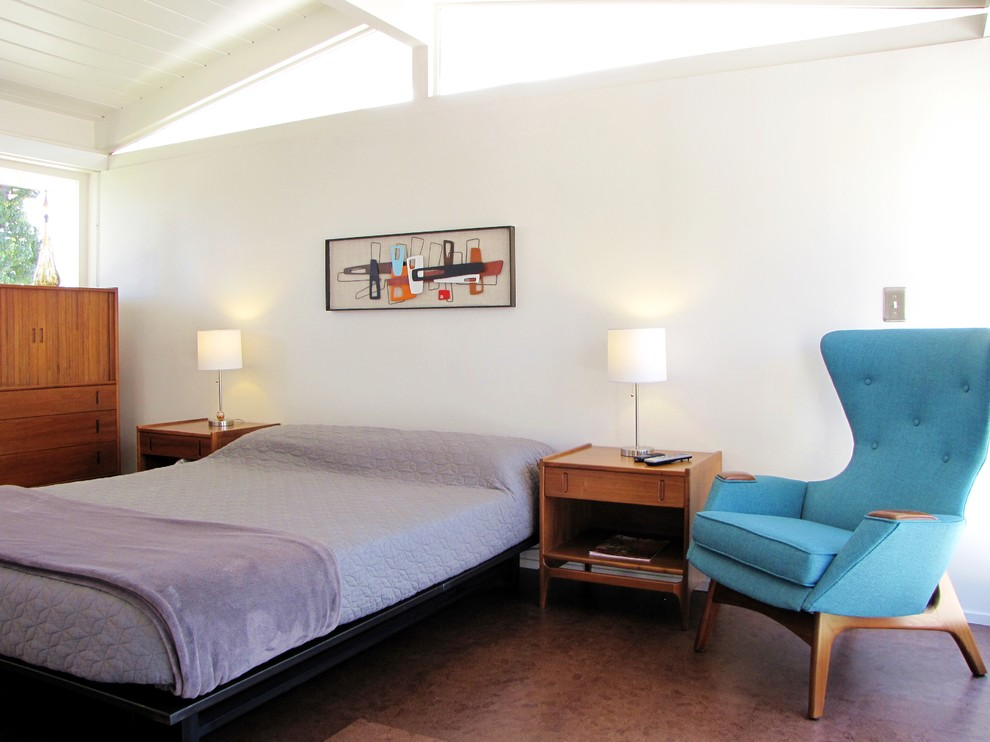 Mid Century Modern Sectional Bedroom Midcentury with Bedroom Blue Armchair Clerestory Windows Cliff May