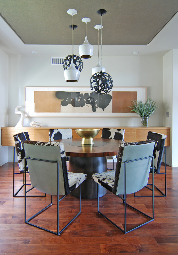 Milo Baughman Chair Dining Room Contemporary with Abstract Art Arteriors Black White Buffet Ceiling