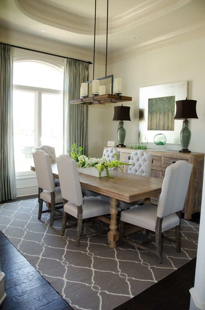 Milo Baughman Chair Dining Room Transitional with Curtains Custom Drapes Drapery Drapes Extra Long