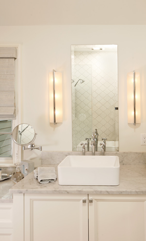 Minka Lavery Bathroom Traditional with Makeup Mirror Sconces Unframed Mirror