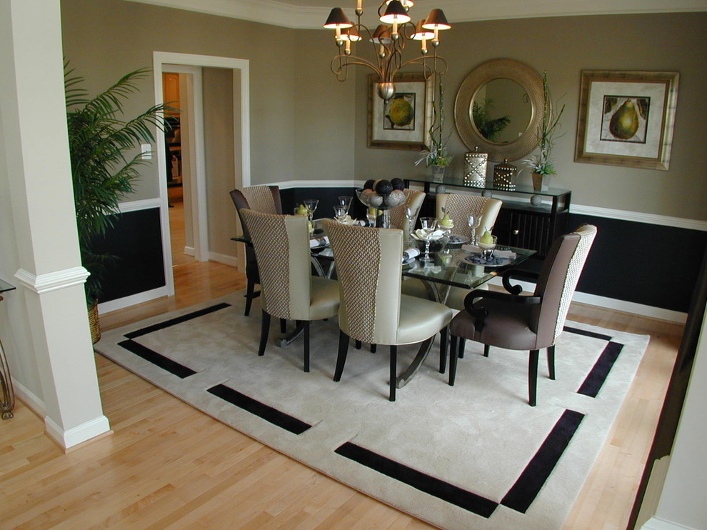 Mirrored Buffet Table Dining Room Traditional with Chair Rail Chandelier Chandelier Shades Dining Buffet