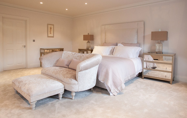 Mirrored Chest of Drawers Bedroom Transitional with Bedding Bedroom Carpet Bedroom Sofa Bedroom Wall Color Bedside