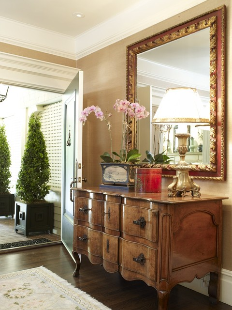 Mirrored Chest of Drawers Entry Traditional with Accessories Crown Moulding Custom Lamp Shade Dresser Entry Entry