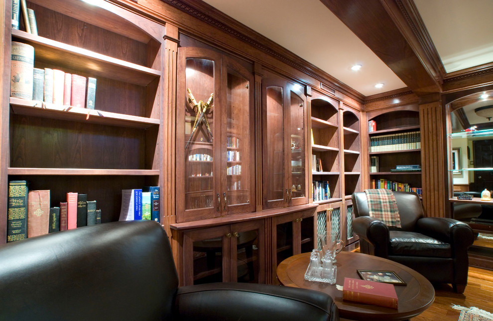 Modern Recliner Chair Home Office Traditional with Accent Rug Beamed Ceiling Black Leather Chairs