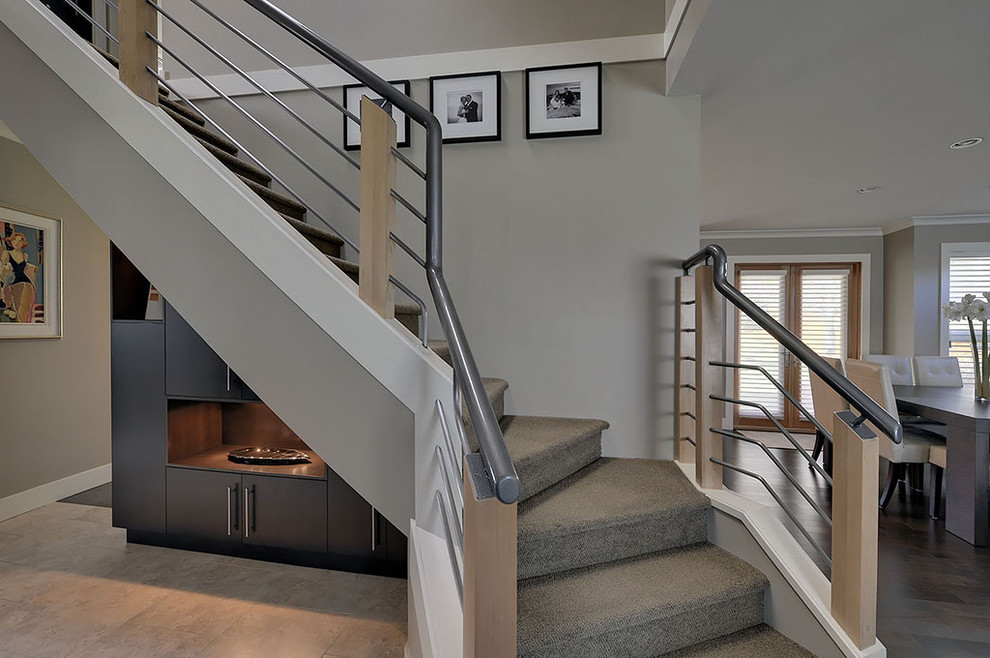 Modern Stair Railing Staircase Modern With Ceiling