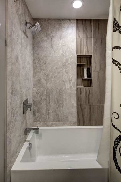 Moentrol Bathroom Contemporary with Crystal Cabinetry Quest Line Custom Frameless Quarter Sawn White