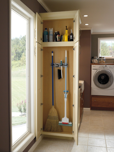 Mop  And Broom Holder Laundry Room Traditional With CategoryLaundry RoomStyleTraditionalLocationIndianapolis