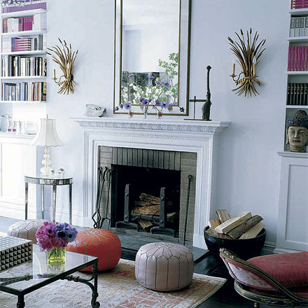 Moroccan Pouf Living Room Mediterranean with Categoryliving Roomstylemediterraneanlocationaustin