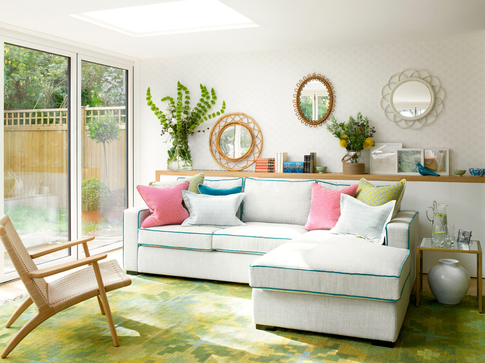 Most Comfortable Sleeper Sofa Living Room Contemporary with Blue Sofa Piping Colorful Sofa Piping Floating