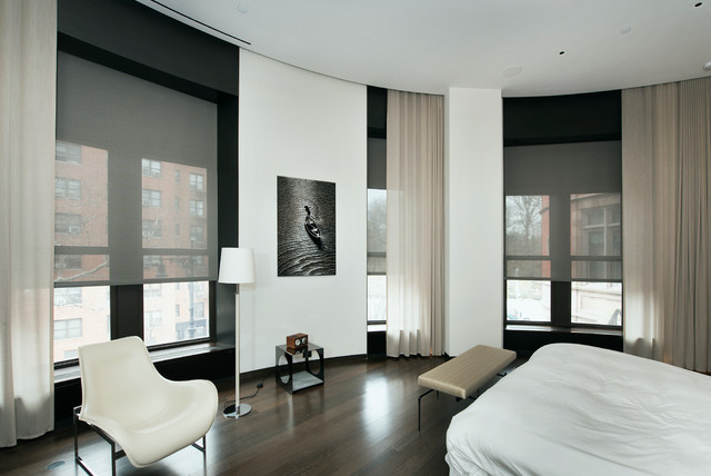 Motorized Curtains Bedroom Contemporary With Attic Bedroom Blackout Built In Bookcase Built In