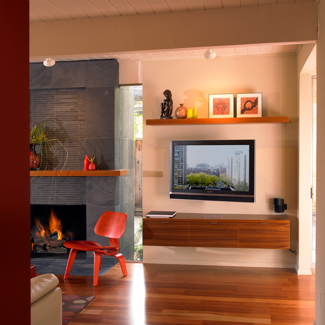 Mounting A Tv Over A Fireplace Family Room Beach With Built In Shelves Built In Storage Console