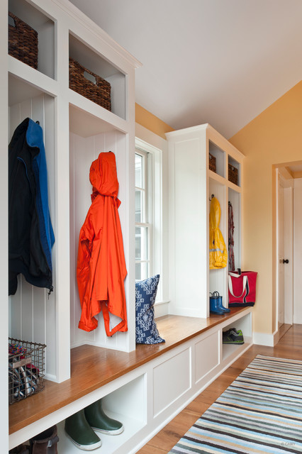 Mudroom Storage Bench Entry Contemporary with Built in Storage Coat Cubbies Mud Room Shoe Storage Sloped