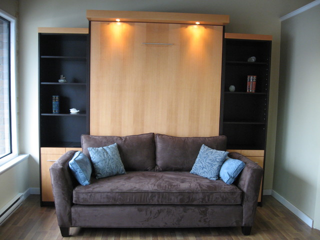 murphy bed couch Home Theater Contemporary with CategoryHome TheaterStyleContemporaryLocationCanada
