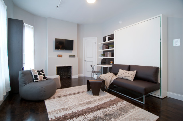 Murphy Bed Couch Spaces with Clei Efficient Micro Apartment Micro Unit Multi Functional Small Space Transforming Wall