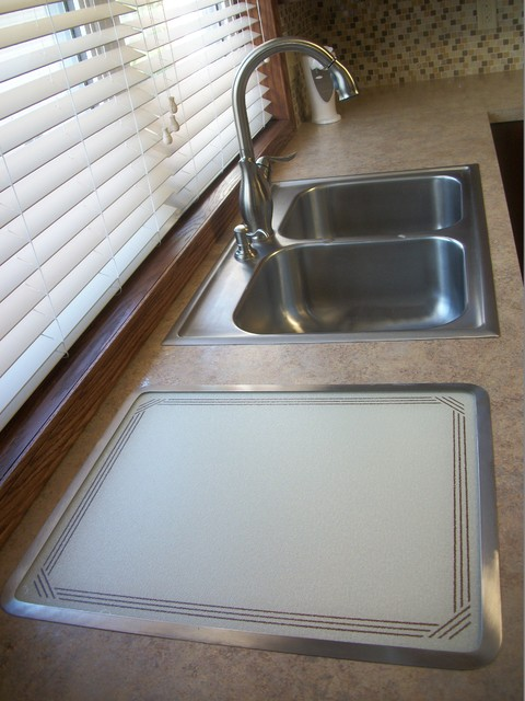 nafco flooring Spaces Traditional with appliances Artisan faucets Cabinet-S-Top church kitchen clean-up area double