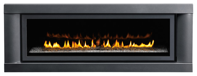 Napoleon Gas Fireplace with Black Blue Clean Contemporary Contemporary Design Direct Vent Embers