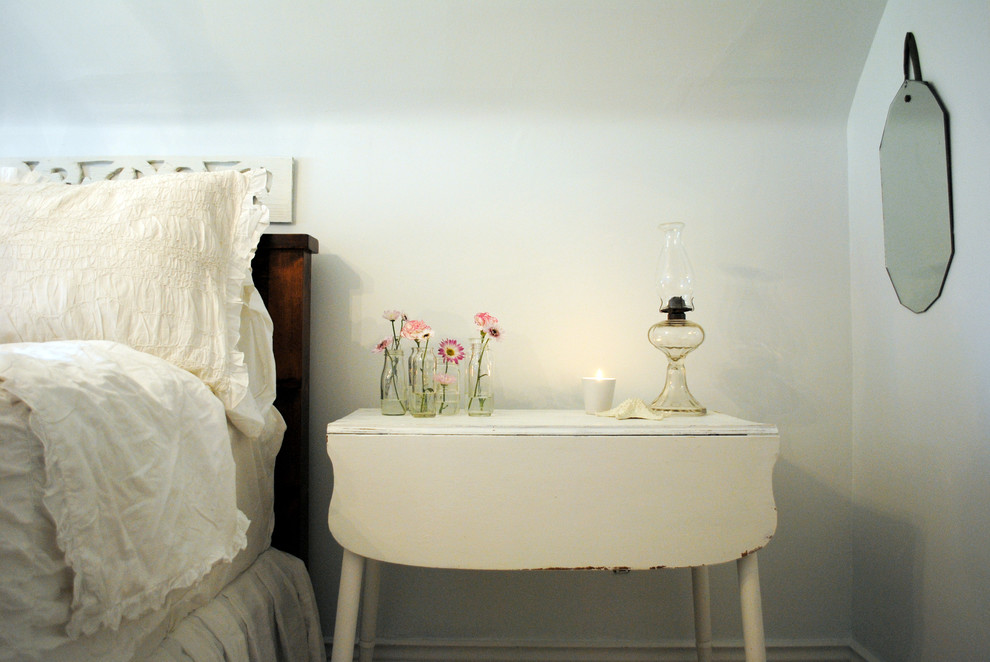 Narrow Bedside Table Bedroom Shabby Chic with Bedside Table Cottage Drop Leaf Table Floral2