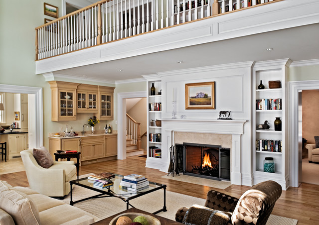 Narrow Bookcase Living Room Farmhouse With Airy Antique Cabinet Balcony Bright Built In Book