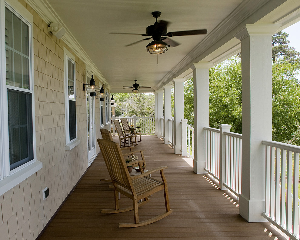 Nautical Ceiling Fans Porch Traditional with Ceiling Fan Deck Handrail Lanterns Outdoor Lighting