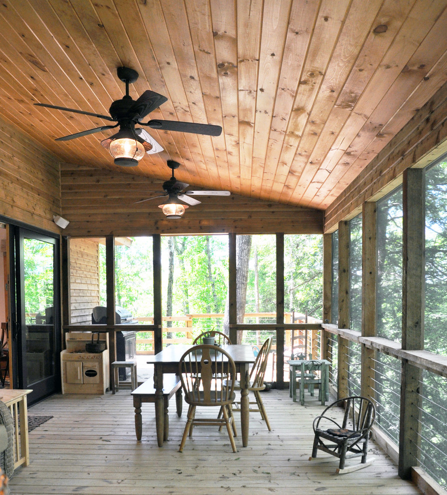 Nautical Ceiling Fans Porch Traditional with Deck Dining Bench Dining Table Fan Furniture