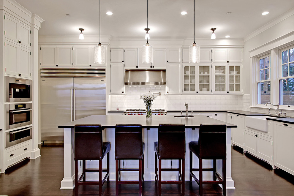 Nautical Pendant Lights Kitchen Traditional with Barstool Cabinet Farmhouse Sink Glass Cabinet Kitchen