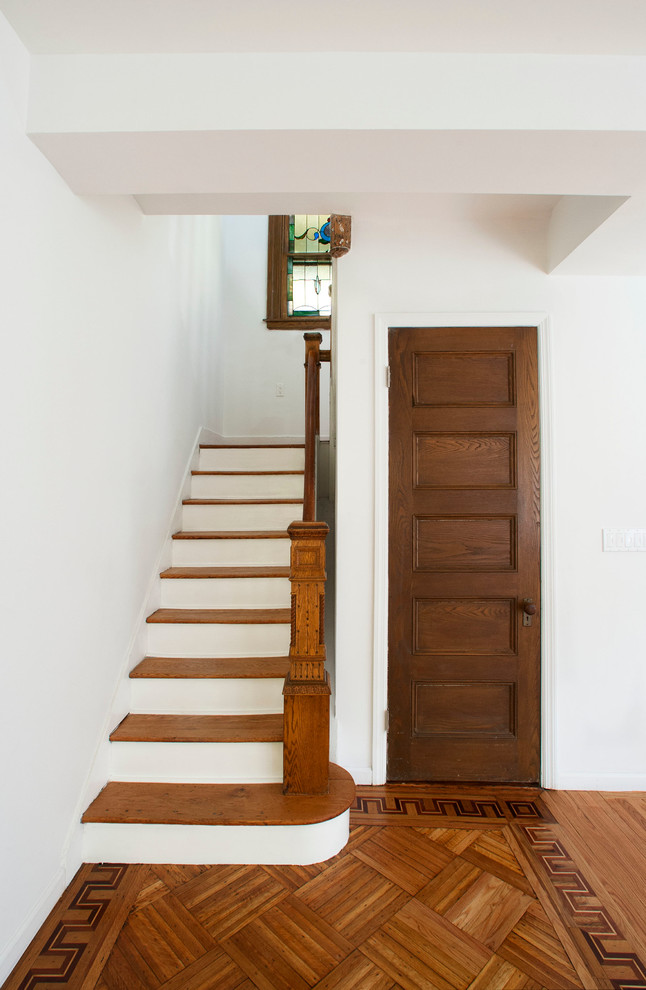 Newel Posts Staircase Traditional with Curtail Five Panel Door Greek Key Newel1