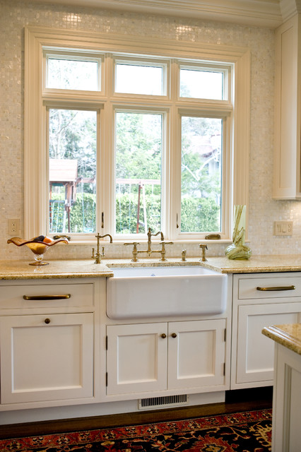Newport Brass Faucets Kitchen Traditional with Antique Brass Beaded Inset Painted Fini Decorative Panel On1