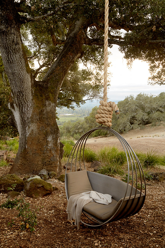 Nicole Miller Home Decor Landscape Mediterranean with Hanging Chair Natural Landscape Relaxing Retreat Secluded1