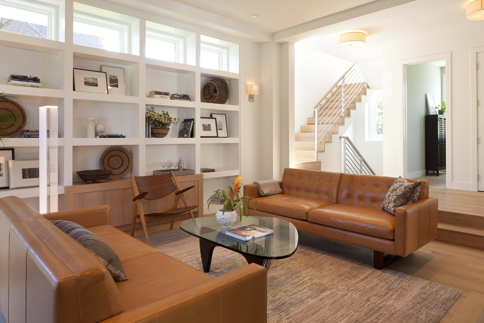 Living Room Ideas Tan Leather Sofa noguchi-table-living-room-contemporary-with-black-leather-sofa