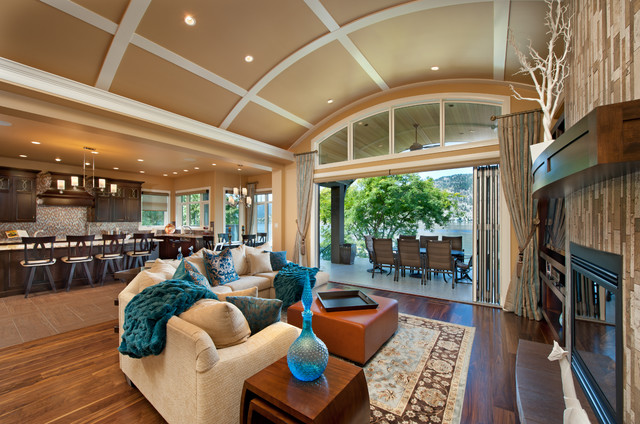 Nourison Rugs Living Room Traditional with Arched Transom Window Barrel Vault Ceiling Beige Ceiling Coffered
