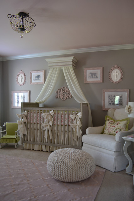 Nursery Glider Recliner Nursery Traditional with Baby Bedding Beige Glider Bows Butterfly Pleat Canopy In