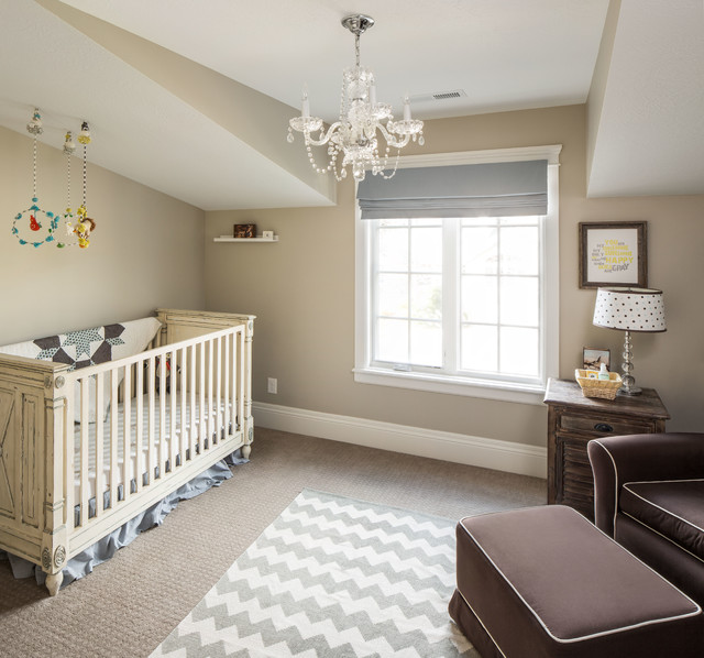 Nursery Recliner Nursery Traditional With Armchair And Ottoman Baby Room  Beige Wall Carpet Chandelier