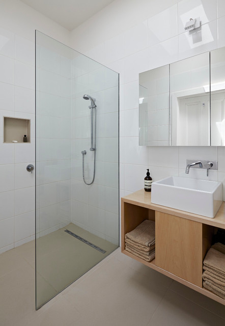 oatey shower drain Bathroom Contemporary with beige floor glass partition glass shower partition medicine cabinet