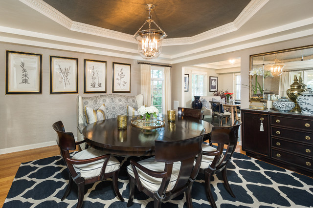Octagon Rugs Dining Room Traditional with Beige Molding Beige Patterned Banquette Beige Patterned Booth Beige