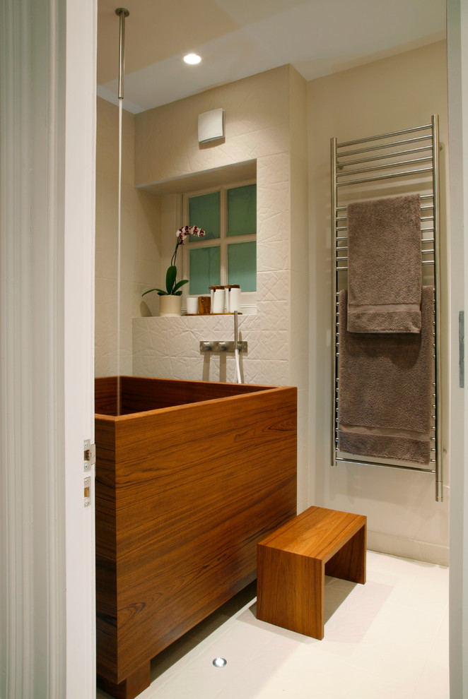 Ofuro Bathroom Contemporary with Bespoke Concealed Lighting Dream House Minimalist Orchid