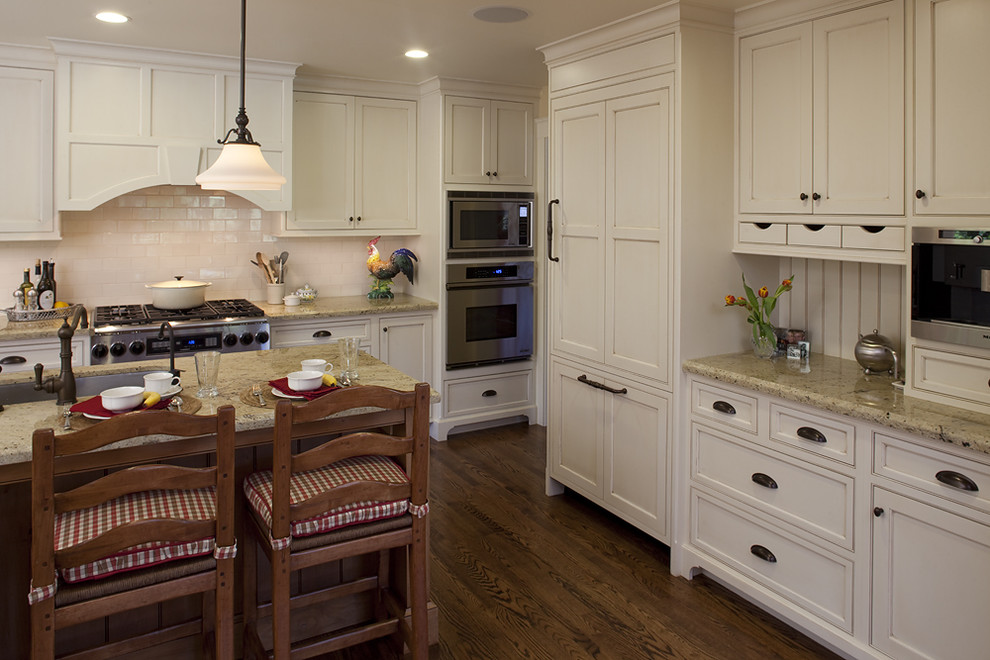oil-rubbed-bronze-cabinet-pulls-Kitchen-Transitional-with-bar ...