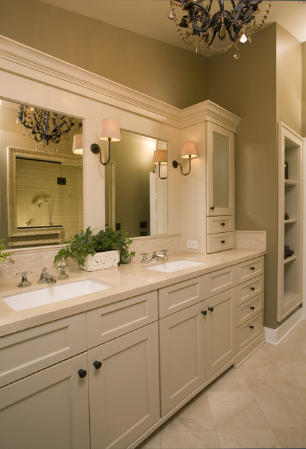 Oil Rubbed Bronze Faucet Bathroom Traditional with Bathroom Mirror Bathroom Storage Double Sinks Double Vanity Neutral