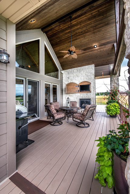 Omaha Door and Window Deck Craftsman with Clerestory Windows Concealed Media Cabinet Concealed Tv Covered Patio1