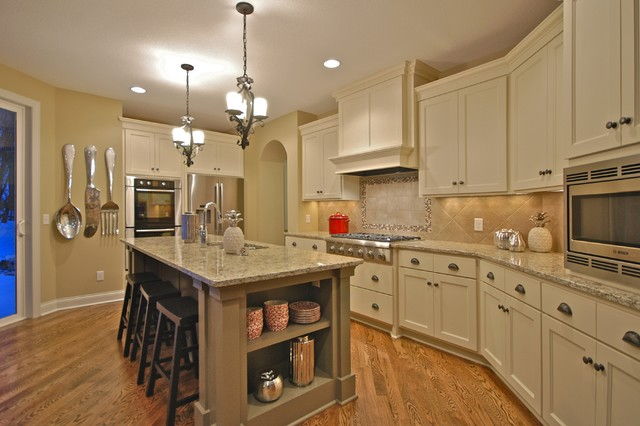 oneida silverware patterns Kitchen Traditional with brass counter stools drawer pulls frame and panel doors