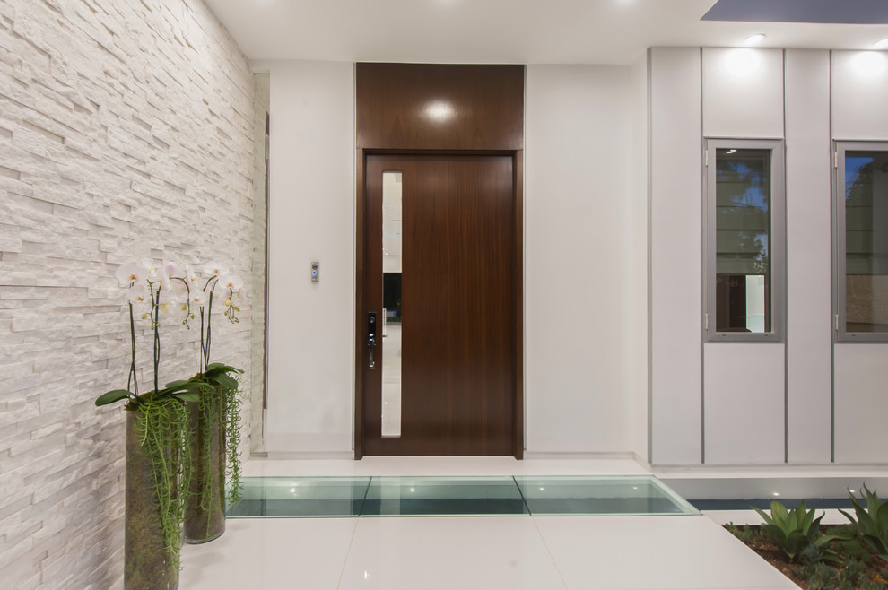 Orchid Arrangements Entry Contemporary with Covered Entry Glass Floor Glass Panel In