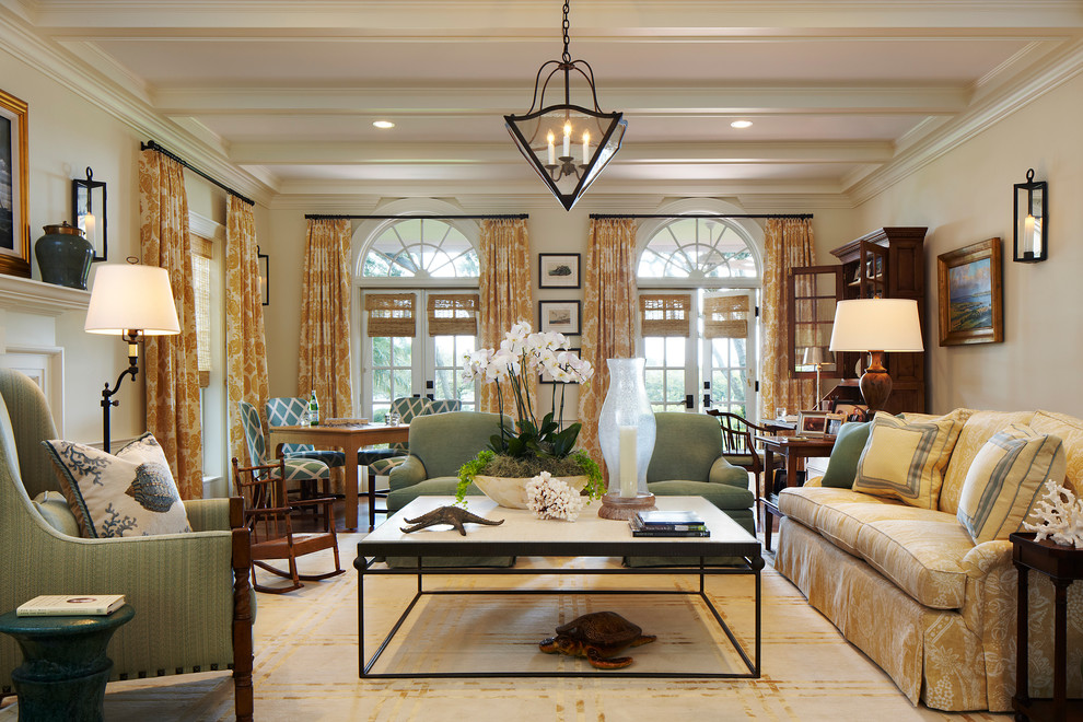Orchid Arrangements Living Room Traditional with Arched Windows Childrens Rocking Chair Crown Molding