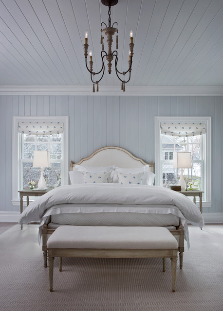 Otels Bedroom Beach with Bedroom Bench Blue and White Light Blue Roman Shades