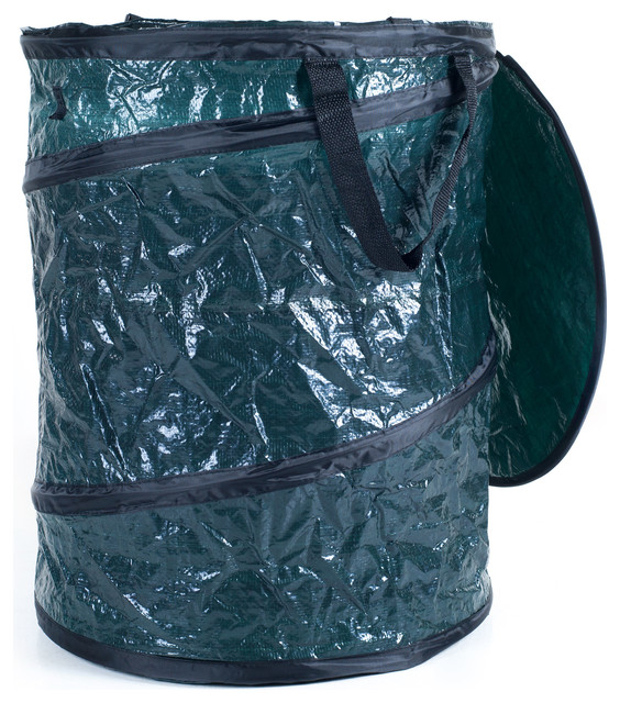 Outdoor Garbage Cans with Bin Collapsible Hamper Indoor Laundry Leaves Outdoor Texport Travel