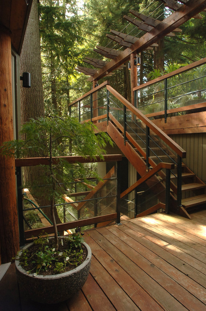 Outdoor Stair Railing Staircase Contemporary with Metal Railing Outdoor Wood Staircase Potted Plant