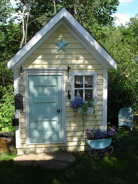 Outside Playsets Kids Traditional with Blue Door Container Plant Front Door Lantern Outbuilding Outdoor