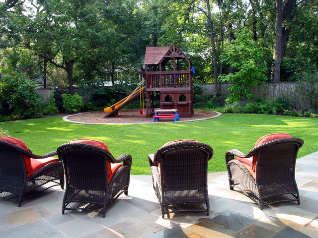 Outside Playsets Landscape Traditional with Fort Grandkids Grass Kids Backyard Kids Picnic Table Kids