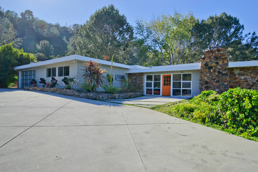Outswing Exterior Door Exterior Midcentury with Architecture Awning Windows Basalt California Colorful Front
