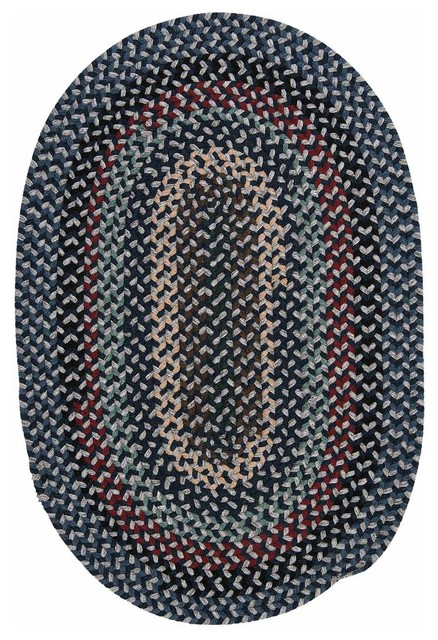 Oval Braided Rugs with Black Blue Braided Brown Casual Dining Grey Indoor Kitchen