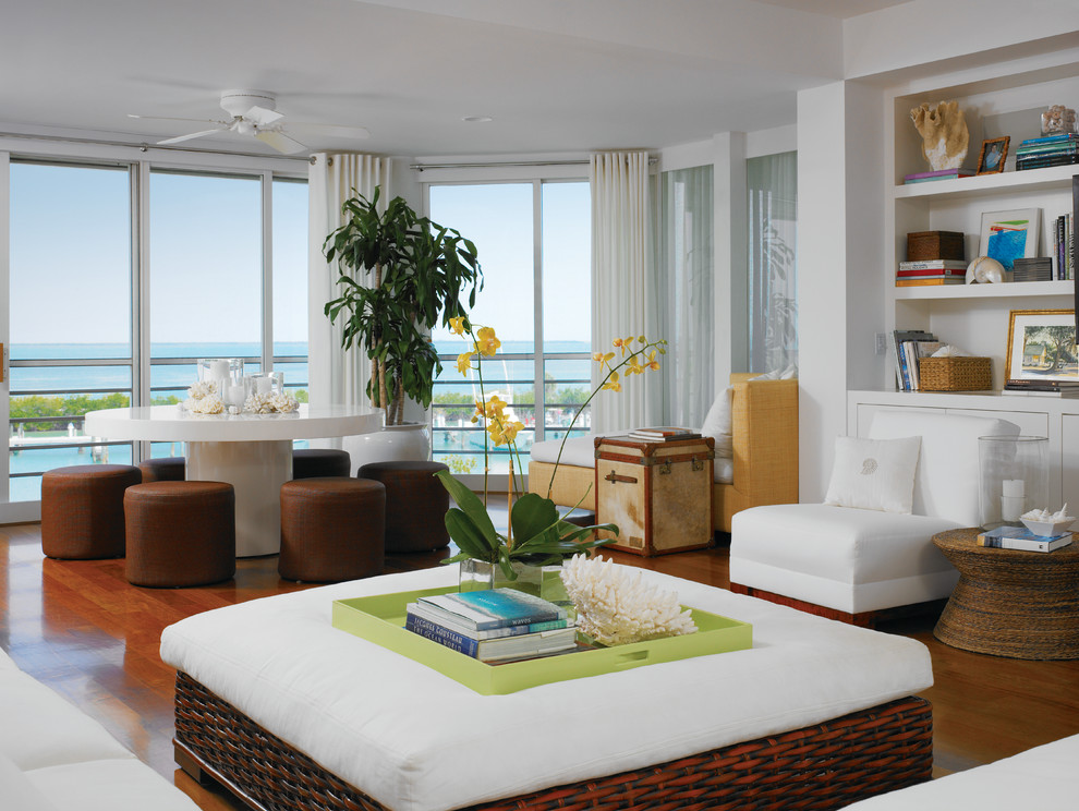 Oversized Chair and Ottoman Family Room Beach with Beige Curtains Brown Dining Chair Brown Ottoman